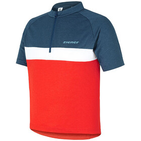 Ziener Caddour Bike Jersey Shortsleeve Children grey/red